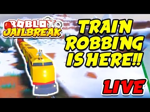 Roblox Jailbreak WINTER UPDATE LIVE! TRAIN ROBBING! Trains, Volt Bike, ATVs, and NEW McLaren Car!!