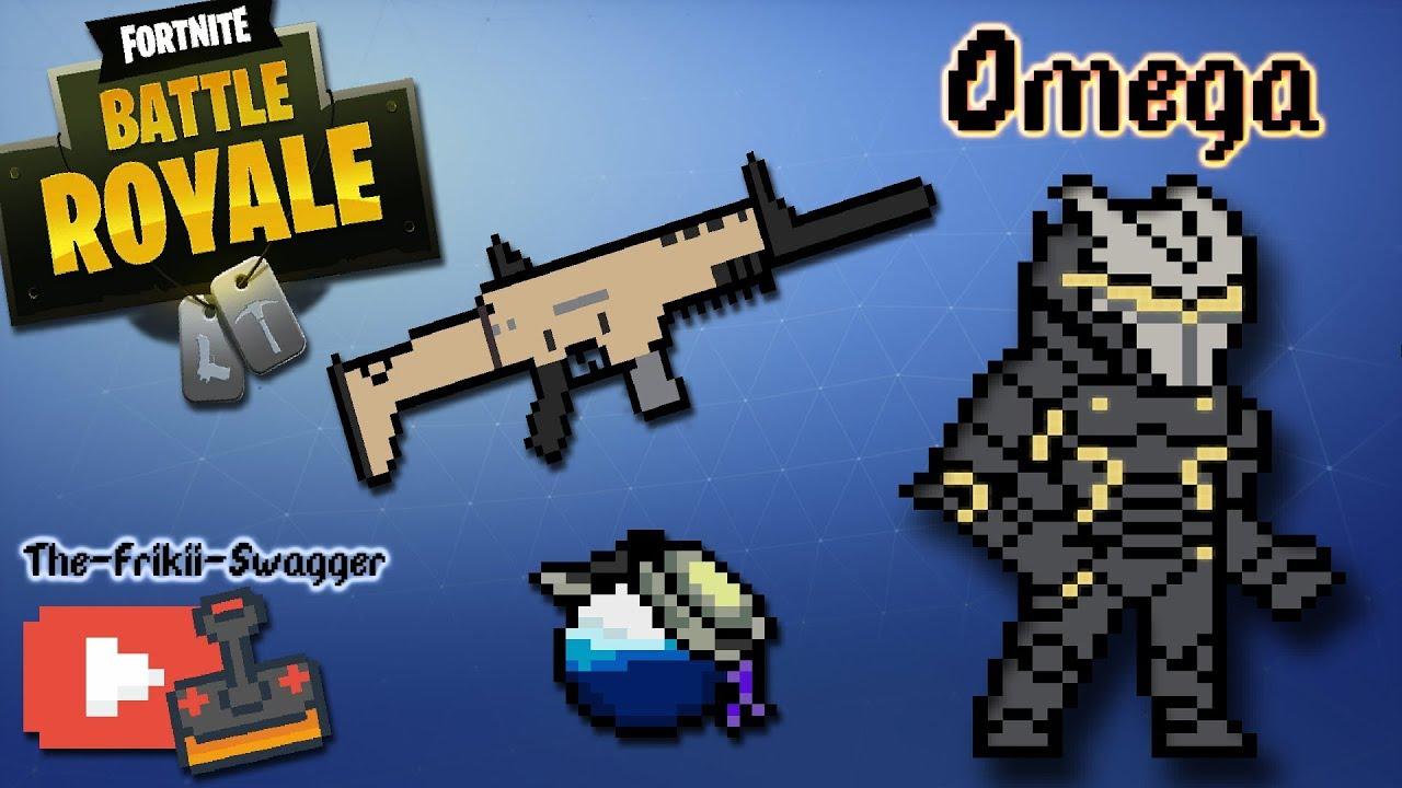 Speed Pixel Art Drawing Dibujando Fortnite Battle Royale Omega