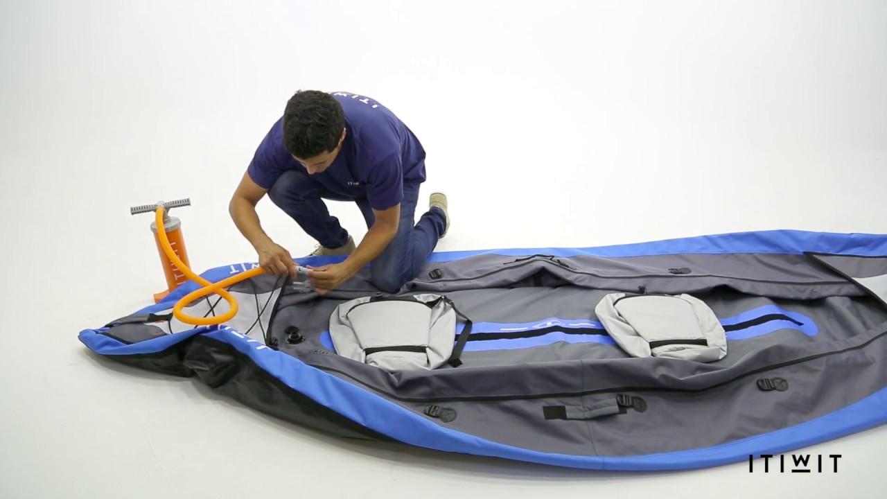 kayak gonflable itiwit bleu 2 places new youtube. Black Bedroom Furniture Sets. Home Design Ideas