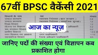 67th BPSC विज्ञापन कब प्रकाशित होगा || bpsc 67th notification 2021 , bpsc vacancy 2021, total post