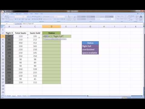 Excel Nested IF function