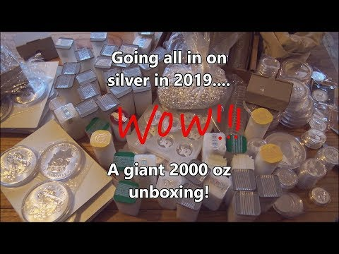 We are going all in on silver in 2019....2000 oz Silver unboxing from European Mint!