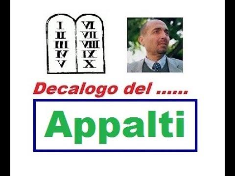 Decalogo degli ... APPALTI PUBBLICI (24/01/2020)