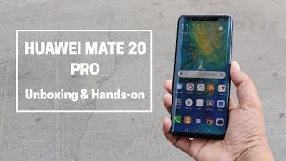 HUAWEI Mate 20 Pro Unboxing And Features Overview in Hindi