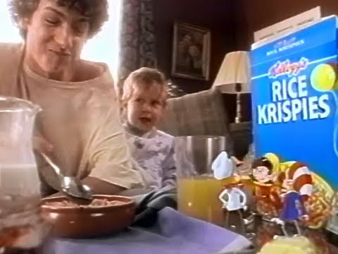 Kelloggs Rice Krispies Cereal Canada Not The Same Without Snap Crackle & Pop 1995 TV Commercial HD