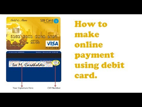 How to make online payment using debit card | credit card | ATM card.