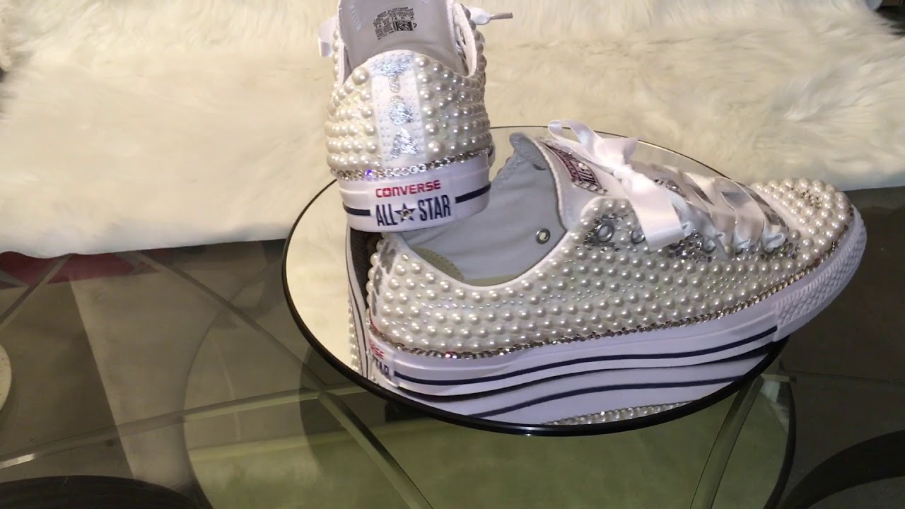 a17253440fa3 Bling Your Shoes  DIY Custom Wedding Converse - YouTube