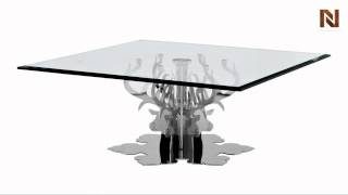 Modern Glass Square Coffee Table - Hamlet Vgwctem-8cf005