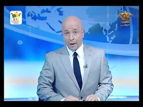 English News at ten in Jordan Television 15-02-2016
