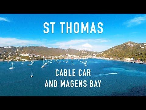 ST THOMAS CABLE CAR AND MAGENS BAY (PRINCESS CRUISES TRAVEL VLOG)
