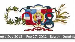 Google Doodle - Dominican Republic Independence Day 2012