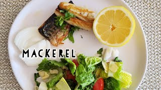 Mackerel Fillet and Garlic Salad easy recipe
