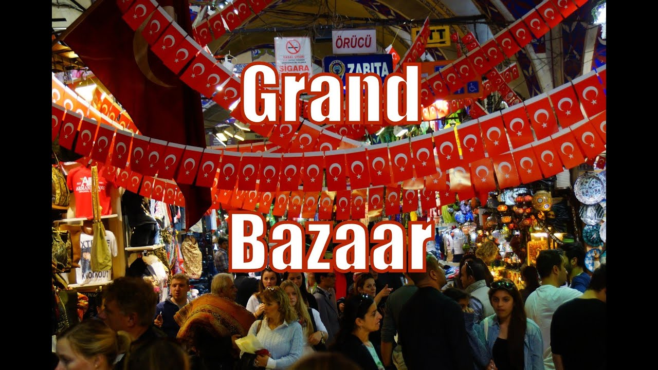 Shopping at the Grand Bazaar in Istanbul, Turkey ...