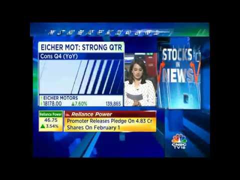 Earningsminute eicher motors vrooms ahead in q4 youtube for Eicher motors share price forecast