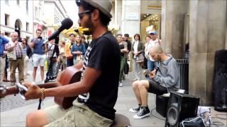 Edwin WALK OF LIFE busking jam - feat. Valerio Papa - Milano 15/06/2014