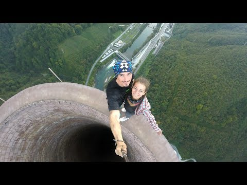 Climbing the tallest chimney in Europe