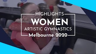 2020 Melbourne Artistic Gymnastics World Cup – Highlights Women's competition