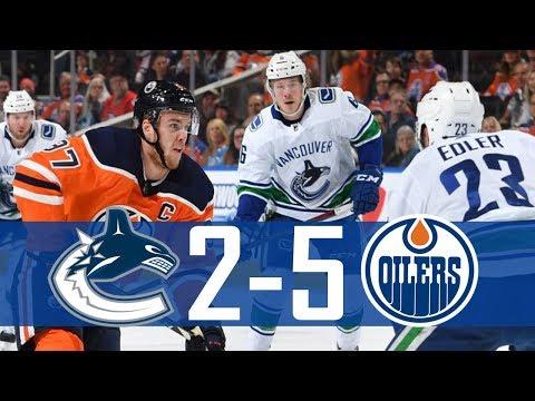 Canucks vs Oilers | Highlights | Jan. 20, 2018 [HD]