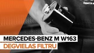 Uzziniet kā atrisināt problēmu ar Degvielas filtrs: video ceļvedis
