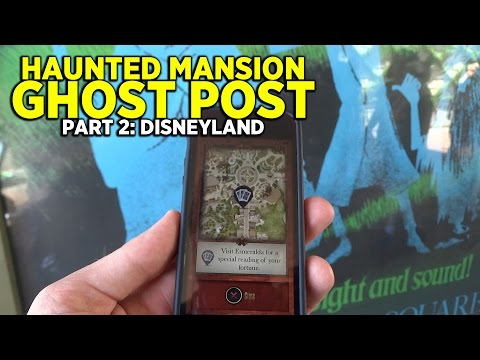 Haunted Mansion Ghost Post (PART 2): interactive adventure at Disneyland