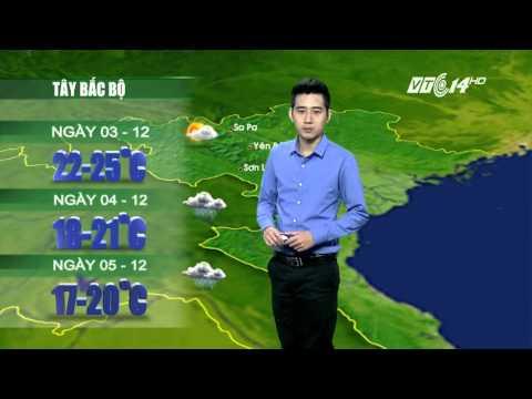 Dự báo thời tiết ngày 03-12: Không khí lạnh sẽ gây mưa và rét sâu tại các tỉnh miền Bắc