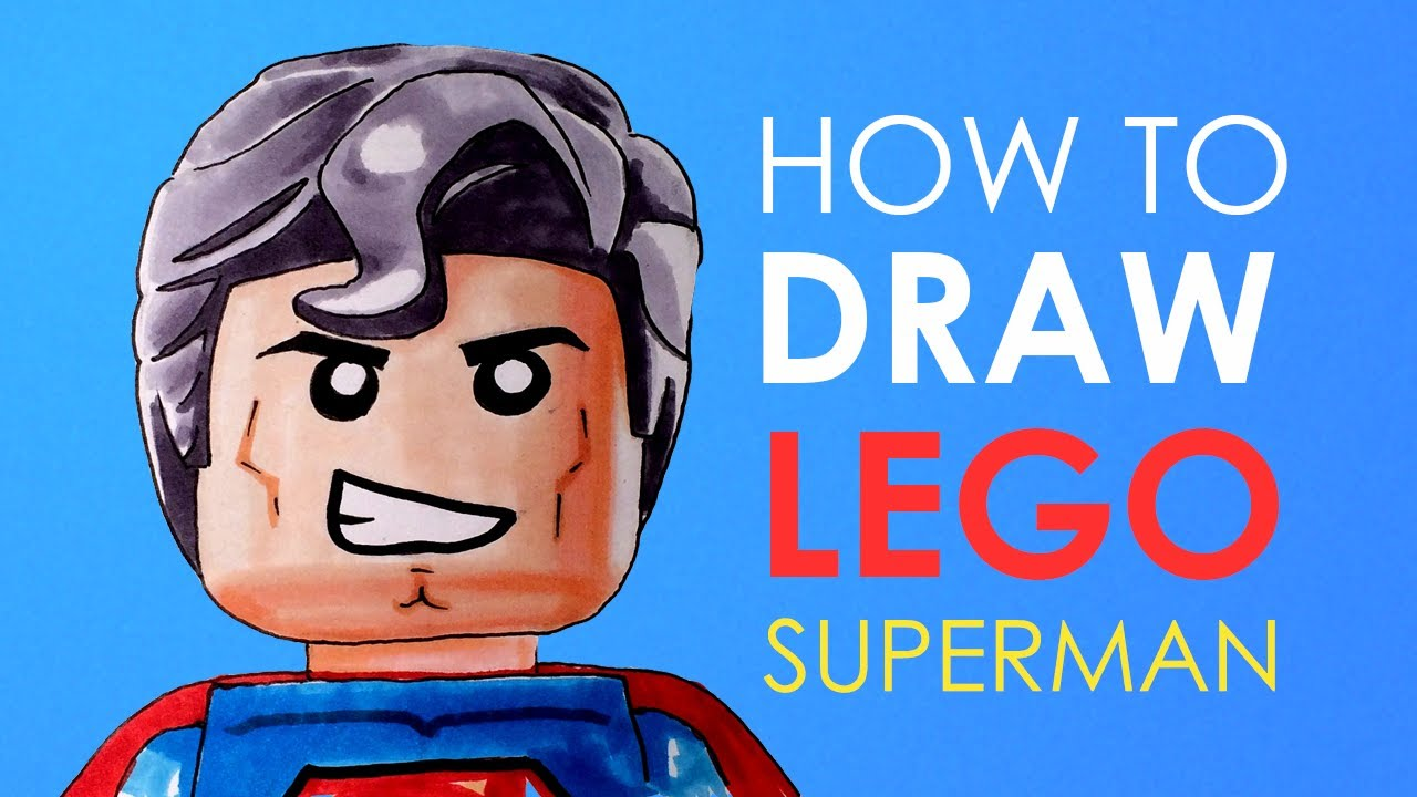 How to draw superman the lego movie facedrawer