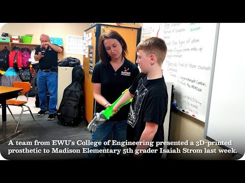 EWU Engineering Team Prints Prosthetic For 5th Grader