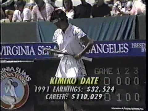 1991 Los Angeles Monica Seles Vs Kimiko Date