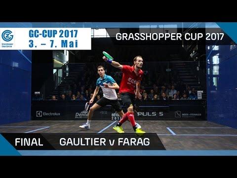 Squash: Gaultier v Farag - Grasshopper Cup 2017 Final Highlights