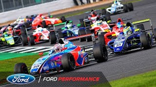 Silverstone Race Highlights | F4 British Championship | Ford Performance
