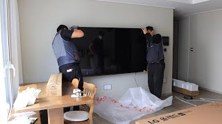 LG OLED(올레드) 77CX 벽걸이 설치