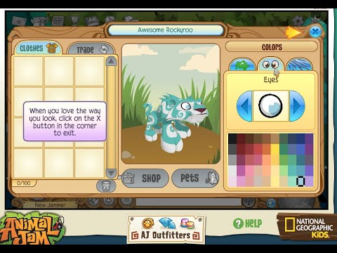 Animal Jam - Let's Play - Creating my very first pet!