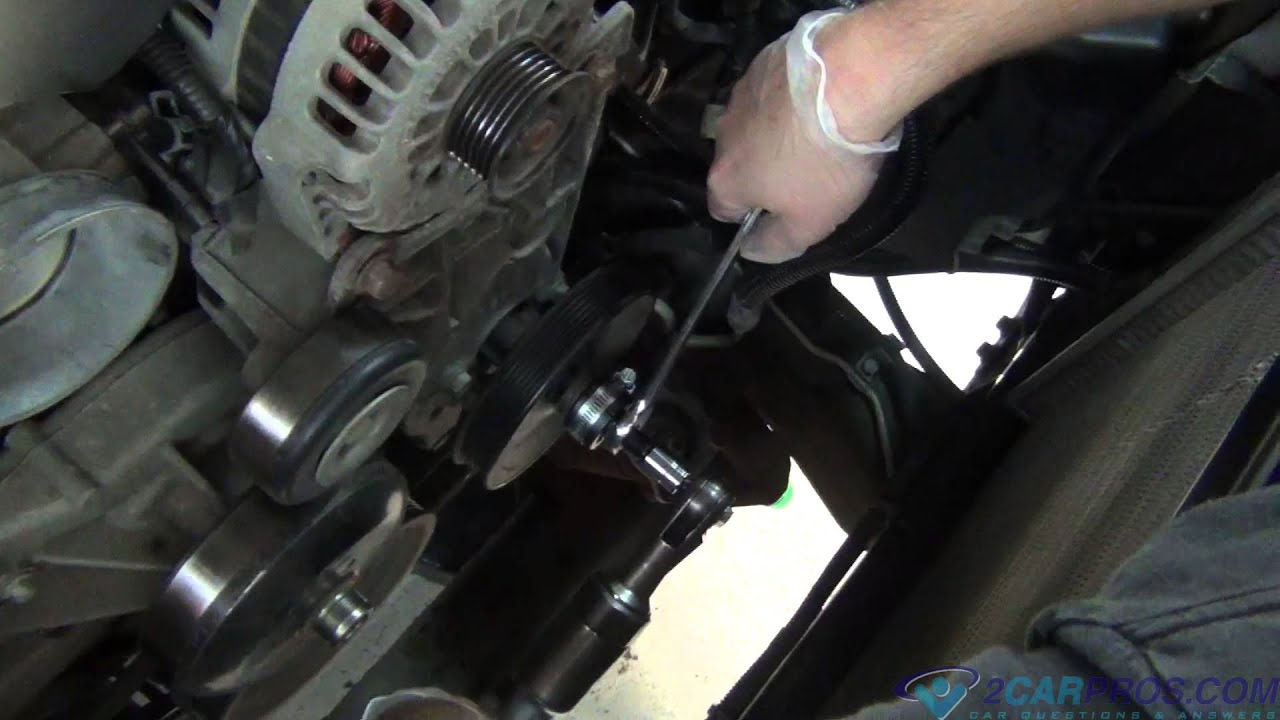 hight resolution of power steering pump pulley removal