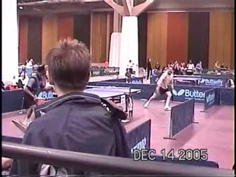 John Schneider vs. George Braithwaite - US National Table Tennis Championships