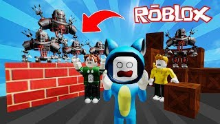 BUILD AND SURVIVE OF ROBOTS INAIDES!! GAME ROBLOX 💙💚💛 BE BE BE BE BE BE BE MILO VITA AND ADRI 😍 AMIWITOS