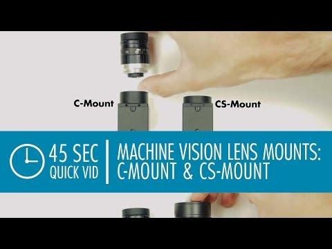 C-Mount & CS-Mount Lenses: Machine Vision Camera Lens Mounts