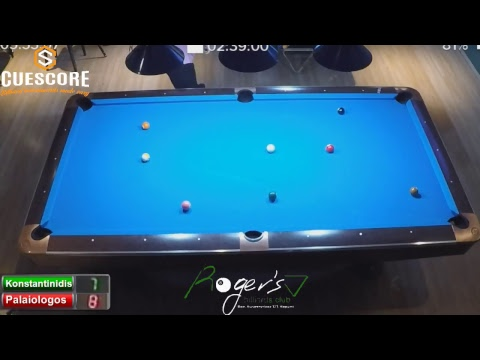 Rogers Billiards Club B' Division Tournament Day 3 Last 8 (Konstantinidis-Palaiologos)