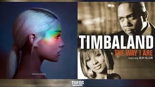 The Way I Cry | Ariana Grande vs. Timbaland (feat. Keri Hilson & D.O.E) (Mashup)