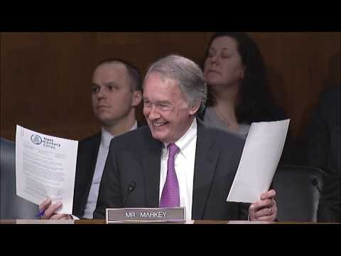 Senator Markey Discusses E-RATE, Improving Access to Infrastructure - Commerce Hearing - 3/1/17