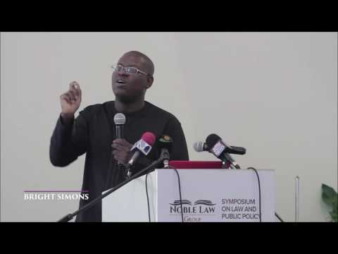 Mr. Bright Simons (mPedigree) - NATIONAL INTEREST AND PUBLIC INTEREST