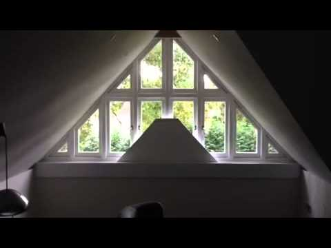 Finnestra Window Shading Motorised Triangle Shaped Bottom