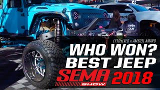 DUB & LFTDxLVLD Awards:  Best Jeep of SEMA 2018 Presented by Amsoil