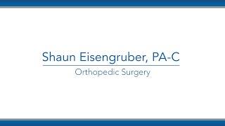 Shaun Eisengruber, PA-C video thumbnail