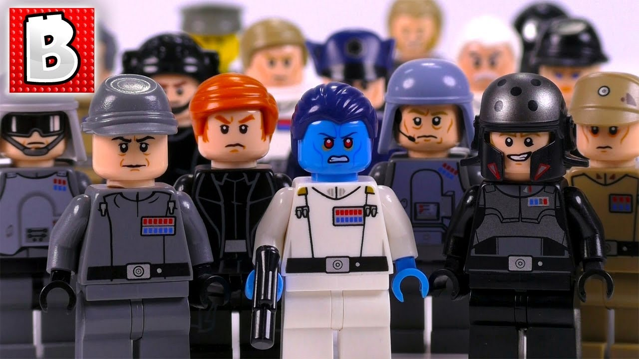 Every Lego Star Wars Imperial First Order Officer Ever Made