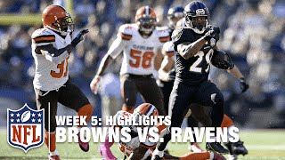Browns vs. Ravens | Week 5 Highlights | NFL