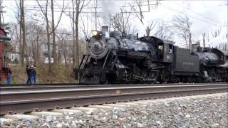 Strasburg Rail Road Double Headed steam freight. Taken December 28th, 2016