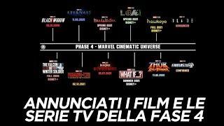 Marvel annuncia TUTTI i FILM e le SERIE TV della FASE 4 - Recap e parei