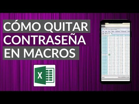 Cómo Quitar o Desbloquear la Contraseña VBA Macros de Excel