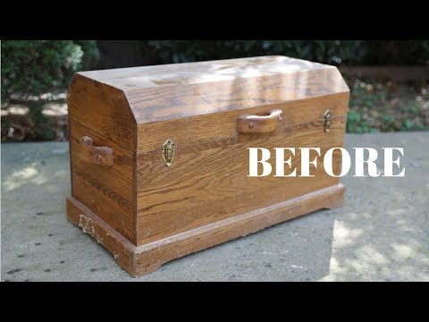 """BEFORE and AFTER"" Wood Chest Makeover! - Thrift Diving"