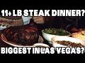 watch he video of Giant 120 Ounce Steak Challenge w/ 3 Family Sides ($350) *Biggest in Las Vegas?* | FreakEating